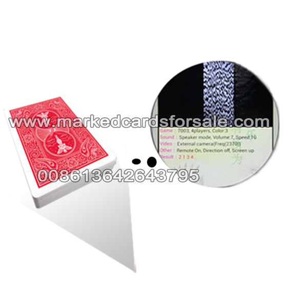 marked cards with invisible barcodes